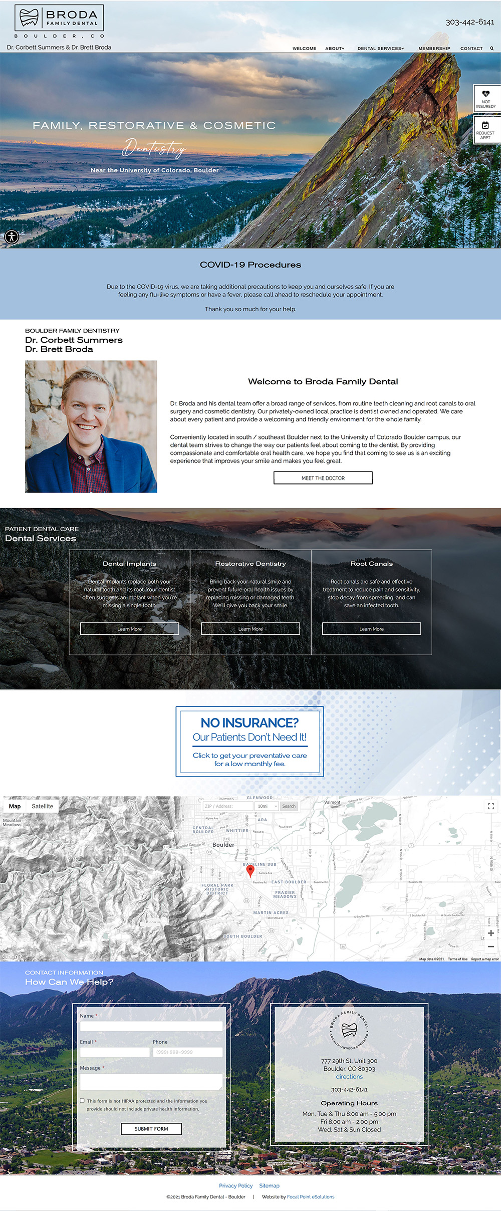 Website Launched for Broda Family Dental of Boulder CO - Brett Broda DDS