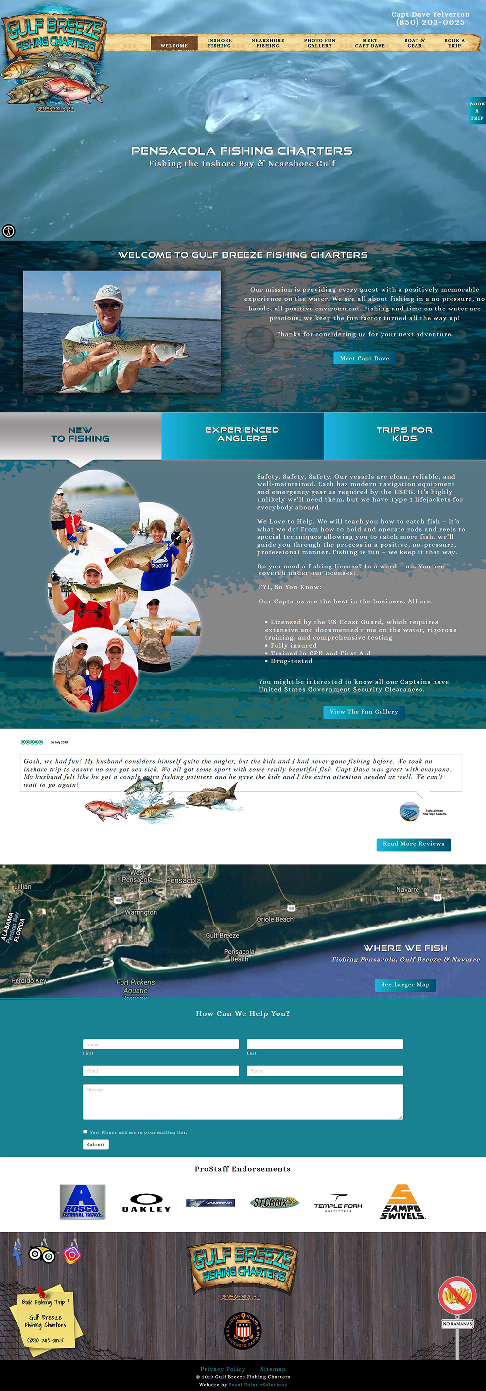 Website Launched for Gulf Breeze Fishing Charters - Pensacola, Gulf Breeze, Navarre