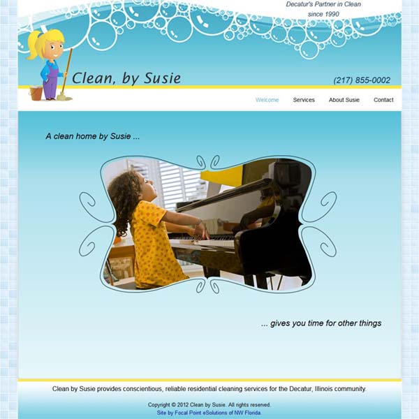 Website Design Project - Clean By Susie of Decatur, IL