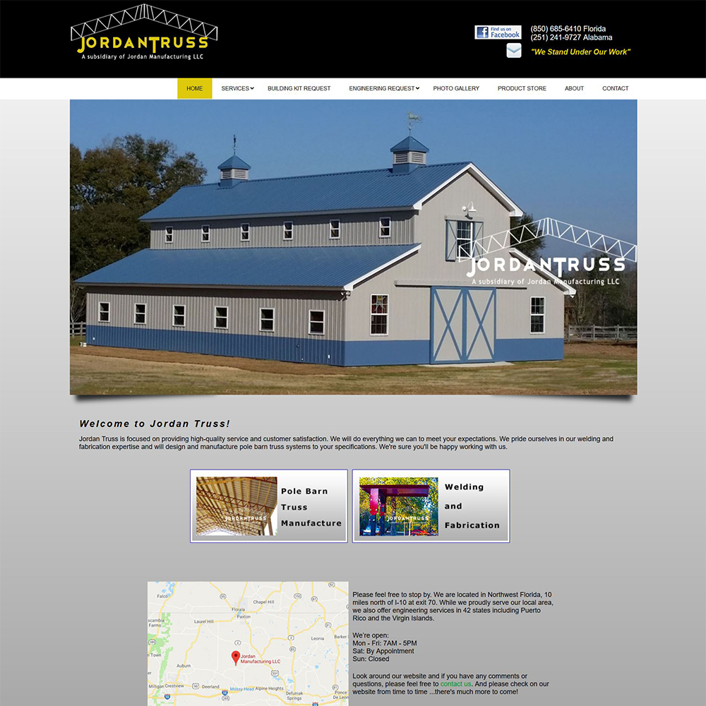 Website Design Project Jordan Truss DeFuniak Springs FL