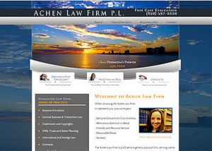 Website for Achen Law Firm of Pensacola FL