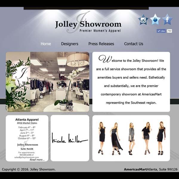 Jolley Showroom at AmericasMart in Atlanta, GA