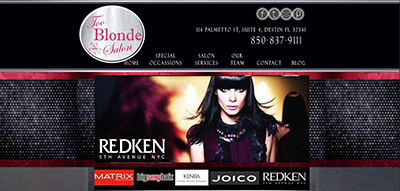 Website Design for one of Destin's Premier Hair Salons