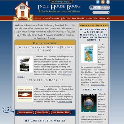 indie house books website redesign
