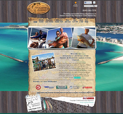 Destin Fishing Website - Intracoastal eXperience