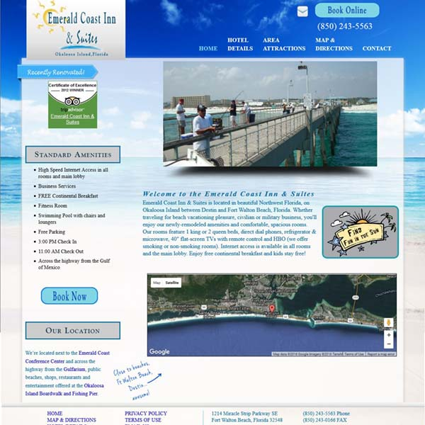 Emerald Coast Inn & Suites - Okaloosa Island - Ft Walton Beach FL