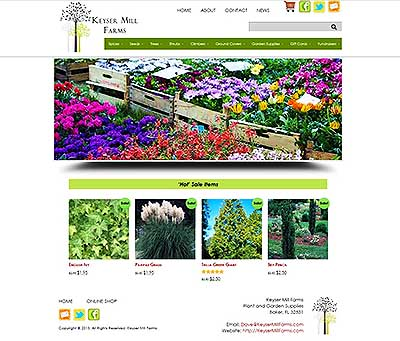 Keyser Mill Farms - Baker FL - eCommerce Website Design