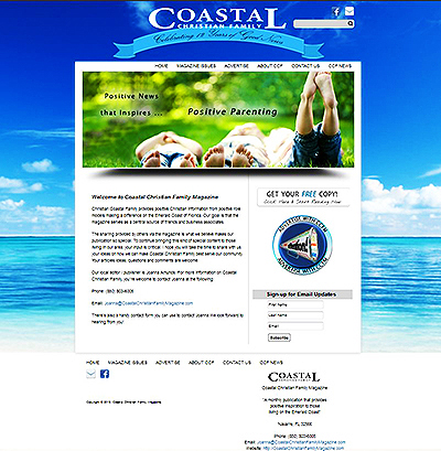 Coastal Christian Family Magazine: Emerald Coast Website Design