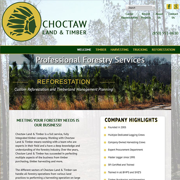 Choctaw Land & Timber - Professional Forestry Services