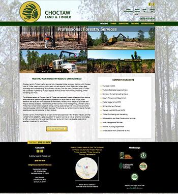 New Website Design for Choctaw Land & Timber - DeFuniak Springs Website Design