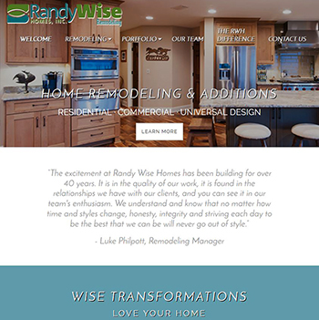 Randy Wise Home Remodeling Website