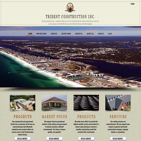 Website Design for Trident Construction Inc of Santa Rosa Beach
