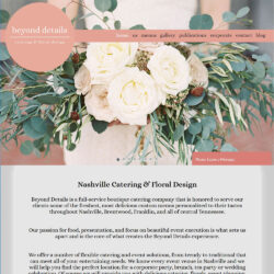 Beyond Details Nashville Website Design