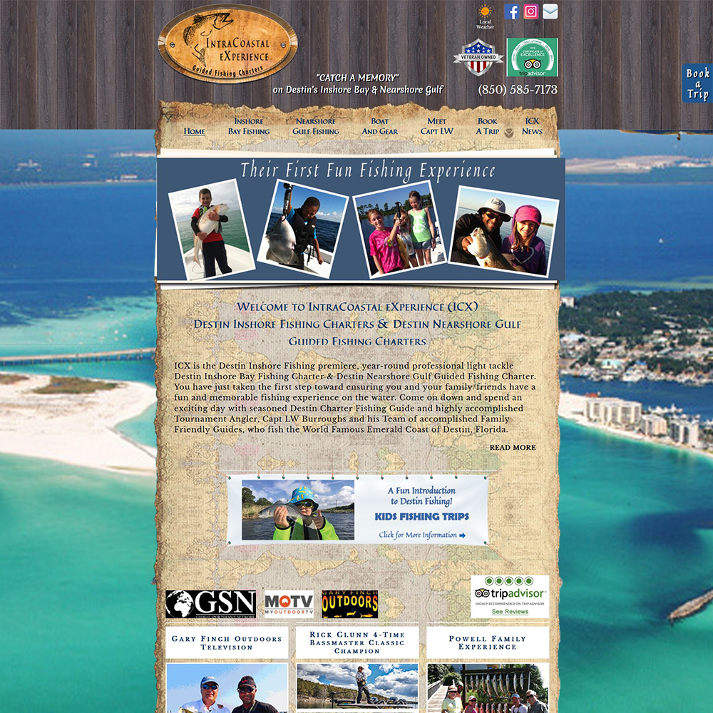 Website Design Destin Fishing ICX