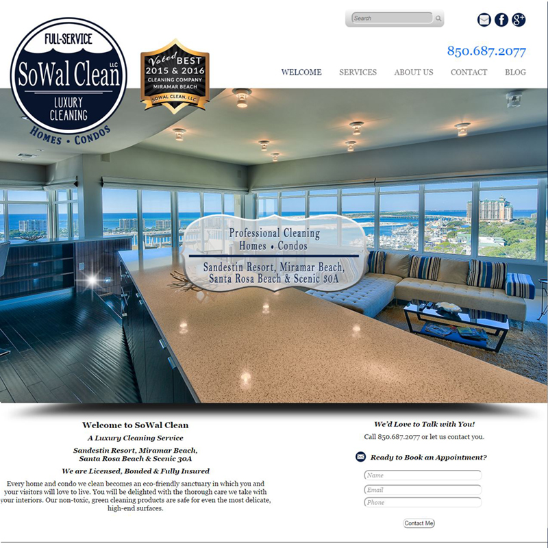 SoWal Clean of Miramar Beach - Website Design