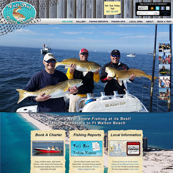 Recently completed websites effective seo and design for Fishing charters pensacola