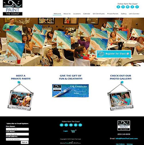 Award Winning Website Design: Paint The Coast