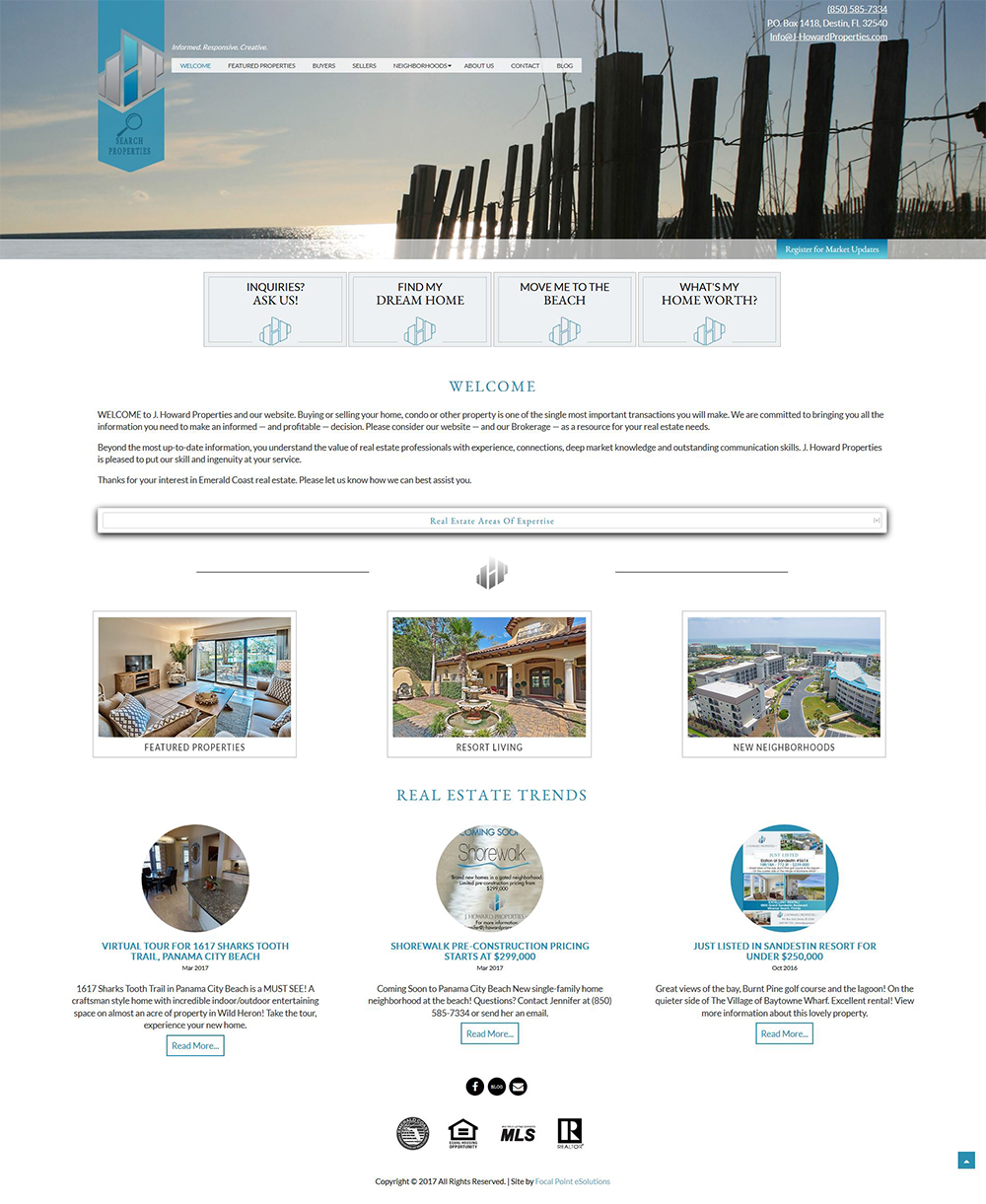 J Howard Properties Website Design
