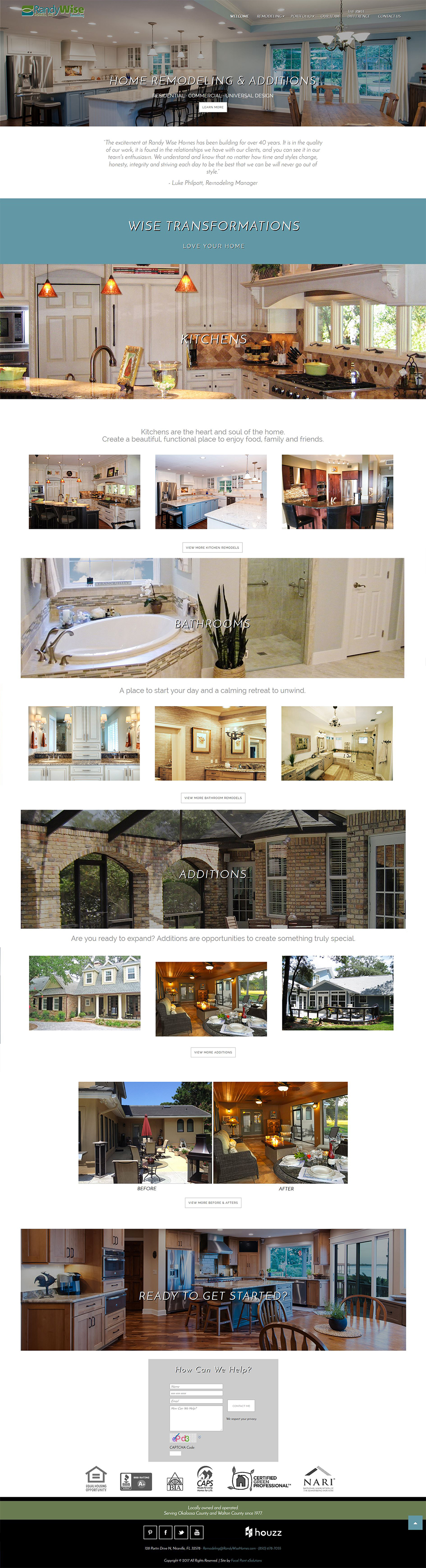 Randy Wise Homes Remodeling Website