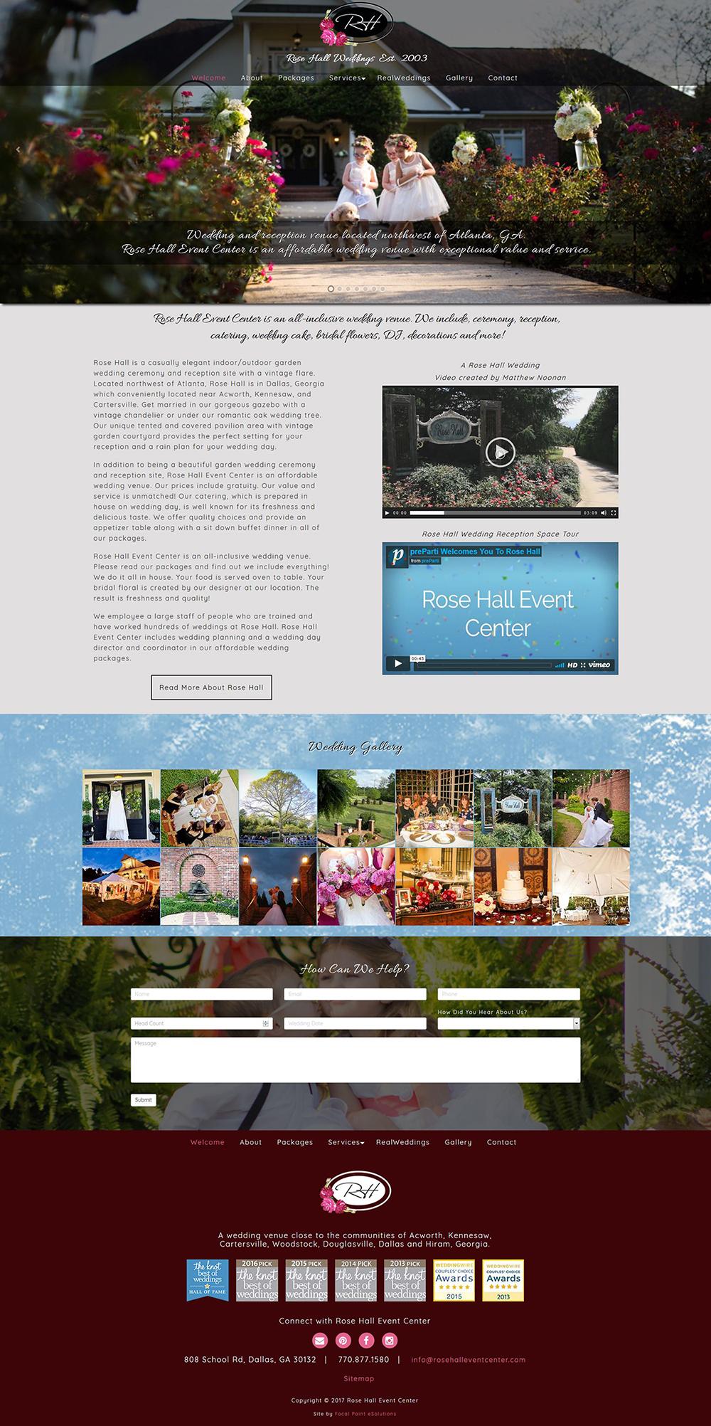 Rose Hall Event Center Wedding And Reception Venue Near Atlanta