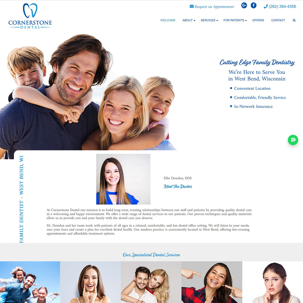 Cornerstone Dental - Family, Cosmetic, Orthodontic Dentistry - West Bend, WI