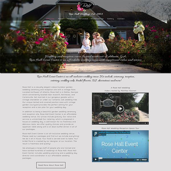 Rose Hall Event Center - Wedding & Reception Venue - Northwest of Atlanta, GA
