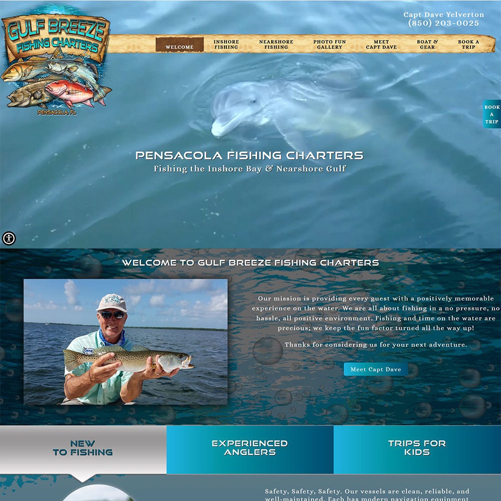 Gulf Breeze Fishing Charters-Inshore Bay & Nearshore Gulf Fishing-Pensacola, Gulf Breeze & Navarre FL