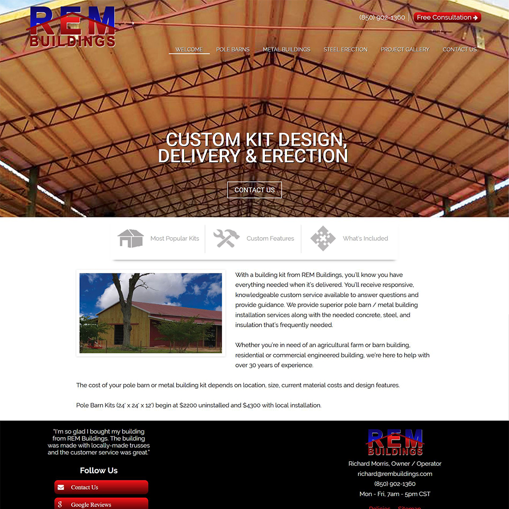 REM Buildings - Pole Barn Kit Design & Erection - Crestview, FL