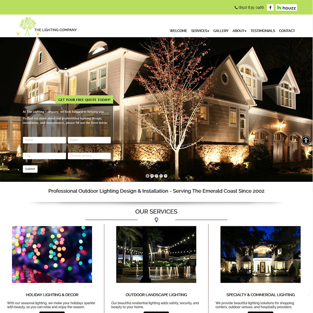 The Lighting Company - Landscape & Outdoor Security Lighting - Holiday Lighting