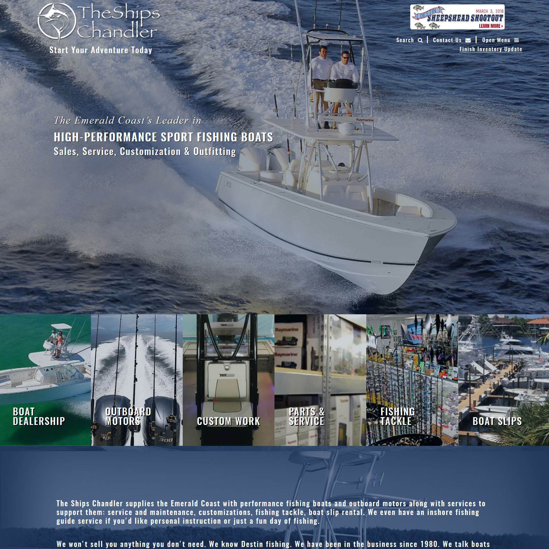 The Ships Chandler Fishing Boat & Pontoon Boat Dealership