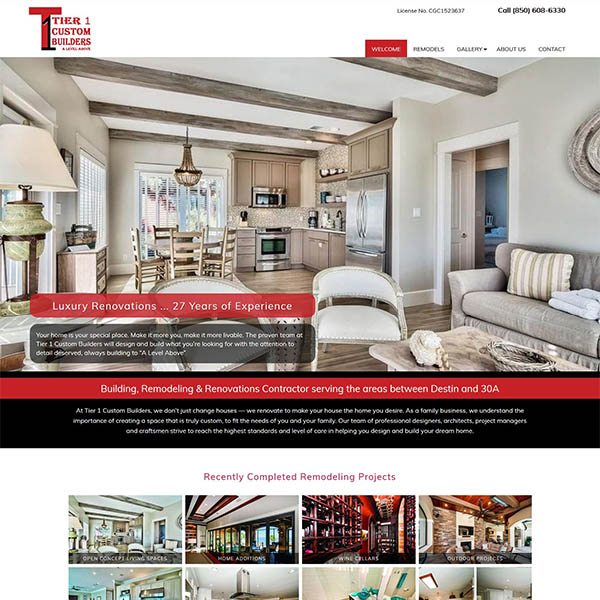 Tier1 Custom Builders - Luxury Home Renovations - Santa Rosa Beach & 30A