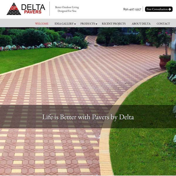 Website Launch: Delta Pavers of the Emerald Coast